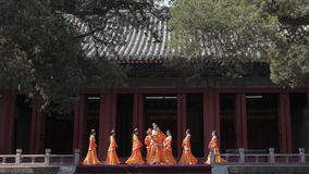 Dacheng Rites-Music Performance at Temple of Confucius in Beijing, China. It intends to enlighten people and convey the artistic purpose of cultivating people Stock Image