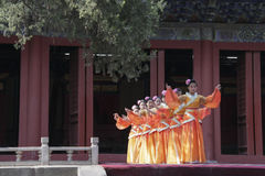 Dacheng Rites-Music Performance at Temple of Confucius in Beijing, China. It intends to enlighten people and convey the artistic purpose of cultivating people Royalty Free Stock Photo