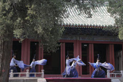 Dacheng Rites-Music Performance at Temple of Confucius in Beijing, China. It intends to enlighten people and convey the artistic purpose of cultivating people Stock Images
