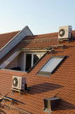 Dachgeschoss mit Luftzustand Lizenzfreie Stockfotografie