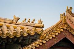 Dachgesims der Peking verbotenen Stadt stockfotos