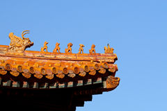 Dachgesims der Peking verbotenen Stadt Stockfotografie