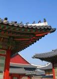 Dachgesimse des chinesischen Tempels Lizenzfreies Stockbild