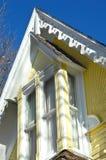 Dachgesimse des viktorianischen Hauses Stockfotos