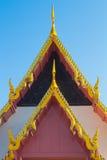 Dachgiebel in thailändischem Lizenzfreie Stockfotografie