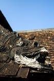 Dachkante der alten Lanna Kathedrale Stockfotografie