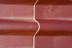 Dachkonstruktion gemacht vom Metallzinn Lizenzfreie Stockfotografie
