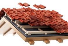 Dachkonstruktionsdetail Abbildung 3D Lizenzfreies Stockbild