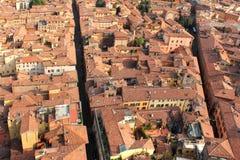 Dachlandschaft von Bologna, Italien Stockfotos
