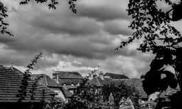 Dachoberteile von Tenbury Wells Lizenzfreies Stockfoto