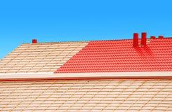Dachowa budowa Fotografia Stock