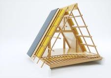Dachowa budowa z technicznymi szczegółami - 3D rendering Obrazy Royalty Free