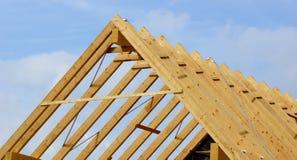 Dachowa kratownicowa lub dachowa struktura Fotografia Royalty Free