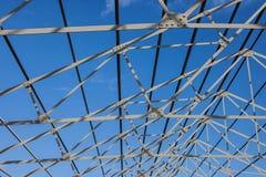 Dachowa rama w budowie biznesowy budynek Obraz Royalty Free