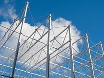 Dachowa struktura przeciw niebieskiemu niebu Fotografia Royalty Free