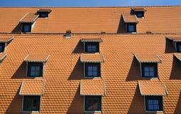 dachowe czerwieni płytki Obraz Stock