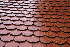 Dachowe płytki na dachu zdjęcie royalty free
