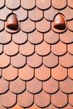 Dachowej płytki patern pomarańcze Zdjęcie Stock