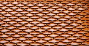 Dachowej płytki wzoru tło Tajlandia Fotografia Stock