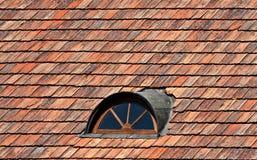 dachowi czerwieni okno Fotografia Royalty Free