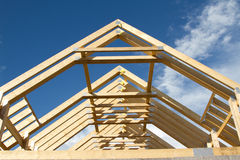 Dachowi trusses. Obrazy Stock