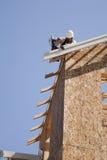 dachowy budowa pracownik Obrazy Stock