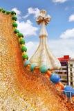 Dachowy domowy Casa Batlo Zdjęcia Stock