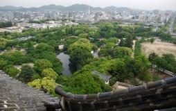 dachowy Himeji grodowy widok Obrazy Stock