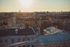 dachowy Petersburg st Zdjęcia Royalty Free