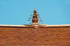 dachowy stylowy świątynny tajlandzki odgórny tradycyjny Obraz Stock