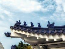 Dachowy szczegół przy swoboda kwadrata metra wejściem, Tapei, Tajwan zdjęcia royalty free