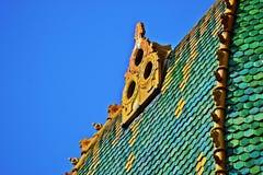 Dachowy szczegół Budapest Zdjęcia Royalty Free