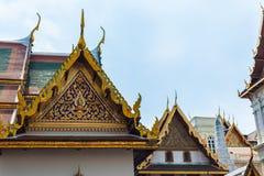 Dachowy szczegół w Wacie Phra Kaew Zdjęcia Royalty Free