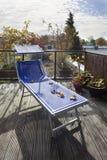 Dachowy taras w jesieni zdjęcia stock