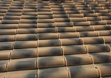 Dachowy terakot płytek wzór Fotografia Royalty Free