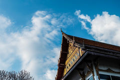 Dachowy wierzchołek świątynia Obraz Stock