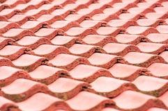 Dachplatten rot Stockfoto