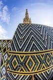 Dachplatten von St Stephen ' s-Kathedrale, Wien, Österreich Lizenzfreies Stockbild