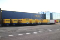 Dachser distribution center for cargo and storage at Doelwijk in waddinxveen the Netherlands. Dachser distribution center for cargo and storage at Doelwijk in stock images