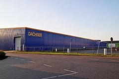 Dachser distribution center for cargo and storage at Doelwijk in waddinxveen the Netherlands. Dachser distribution center for cargo and storage at Doelwijk in royalty free stock images