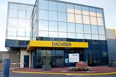 Dachser distribution center for cargo and storage at Doelwijk in waddinxveen the Netherlands. Dachser distribution center for cargo and storage at Doelwijk in stock image