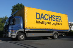 Dachser truck. A Dachser truck in Dietzenbach. The Dachser Group is a German locistic company, founded in 1930 Royalty Free Stock Images