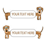 Dachshund background set. Funny dogs frames, isolated vector illustration. Stock Image