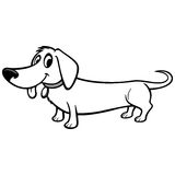 Dachshund Cartoon Illustration Stock Images