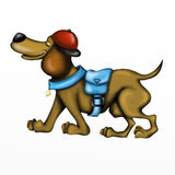 dachshund dog with hat Royalty Free Stock Photography
