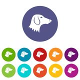 Dachshund dog set icons Royalty Free Stock Photo