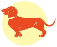 Dachshund dog silhouette Royalty Free Stock Photo