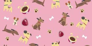 Dachshund, Fox Terrier, Doberman Royalty Free Stock Photos