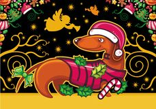Dachshund. Greeting card Royalty Free Stock Images