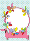 Dachshund Mirror Colorful Flower_eps Stock Image